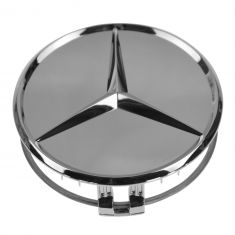 90-14 MB C CL CLA CLS E G ML GL GLK S SL SLK Class Chrome w/Raised Chrome Star Wheel Center Cap (MB)