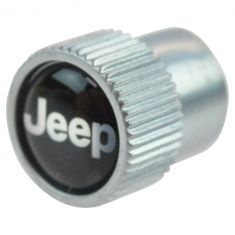 Jeep Multifit ~Jeep~ Logoed Tire Valve Stem Cap Cover (Set of 4) (Mopar)