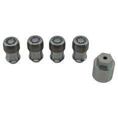 11-16 Durango; 11-16 Gr Chrke; 12-16 Ram 1500; 14-16 2500, 3500 Chrome Lck Lug Nuts w/Mopar Key (MP)