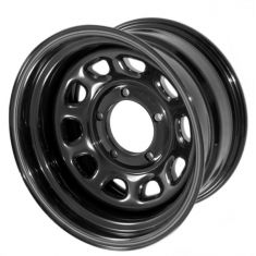 Black D Window Wheel, 15 inch X 10 inches, 5 x 4.5-inch bolt pattern