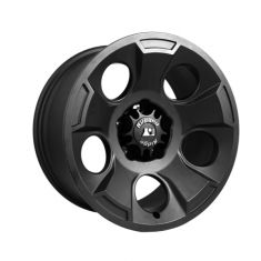 Drakon Wheel, 17X9 Black Satin, w/ center cap, 07-14 Jeep Wrangler