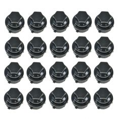 Lug Nut Cap Black (Set of 20)