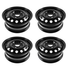 11-13 Ford Fiesta; 04-11 Focus (15 x 6 inch) 14 Hole Steel Wheel Set of 4