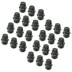 00 Escalade; 99-14Chevy, GMCFS PU,SUV, Astrovan Multifit (M27-2.0 x 22mm) Black Lug NutCap Box of 24