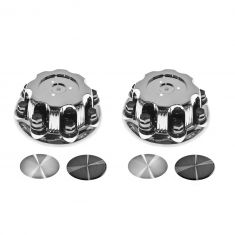 01-06 GM Sierra 1500, HD; 99-04 2500; 07-14 3500; 03-14 Savana w/8 Lug Wh Chr Ctr Cp Pair Dorman