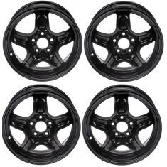 07-08 Cobalt, G5; 07-11 HHR; 06-08 Malibu (16 x 6 1/2 in - 5 Bolt) Steel Wheel Set of 4 (Dorman)