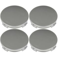 03-14 Mazda Multifit (w/Alloy Wheels) Silver Painted Snap In Center Cap Set (Dorman)