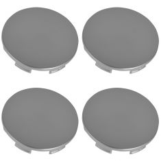 02-08 Acura; 02-14 Honda Multifit (w/Alloy Wheels) Silver Painted Snap In Center Cap Set (Dorman)