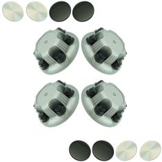 99-13 GM FS 1500 PU, Van, SUV, Astro, Safari w/Silver Painted Steel WhNX7Gray Center Cap DM Set of 4