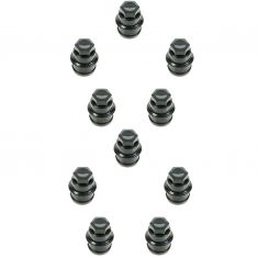 00 Escalade; 99-10 Chevy, GMC Multifit (M27-2.0 x 45mm) Black Lug Nut Cap (Box of 10) (DM)