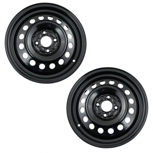 12-17 Nissan Versa Sedan  (15 x 5 1/2 in - 4 Bolt - 100mm Bolt Circle) Steel Wheel (Dorman) Pair