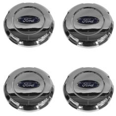 03-14 Expedition; 04-08 F150 New Body (17 Inch Alum Whl) Ford Logo Chrome Center Cap Set (Ford)