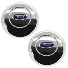 05-08 Ford F150 (w/17 Inch Chrome Steel Wheel) ~Ford~ Logoed Chrome Center Cap Pair  (Ford)
