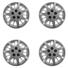 03-05 Impla; 06-11 Impla (w/Plce); 04-05 Mnte Crlo Slvr Bowtie Lgd 16 In Hub Cap Set of 4 (GM)