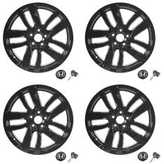 2016 Pilot Touring & Elite (20 Inch) Blk 8 Spke Alloy Whl w/Cntr Cap & TPMS Sensor (Set of 4) (HD)