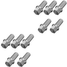 78-14 Audi; 77-82 Porsche; 90-14 VW Multifit (M14-1.5 x 26mm) Wheel Lug Bolt Set of 10(VW)