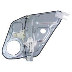 06-08 Hyundai Sonata Rear Door Power Window Regulator w/ Panel w/o Motor LR