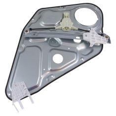 06-08 Hyundai Sonata Rear Door Power Window Regulator w/ Panel w/o Motor RR