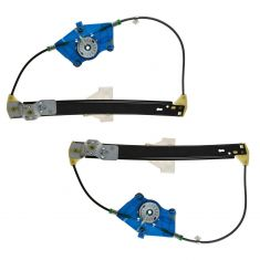 2-08 Audi A4 S4 Power Window Regulator w/o Motor Rear PAIR