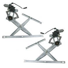 1999-11 Ford Super Duty Crew Cab Power Window Regulator w/Motor Rear PAIR