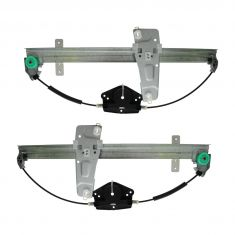 00 (from 3/10/00)-04 Jeep Grand Cherokee Front Door Window Regulator w/o Motor PAIR