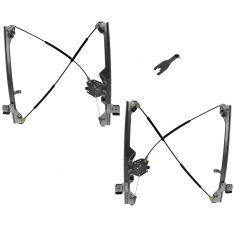 99-07 GM GMC Truck Manual Window Regulator Pair w/ tool