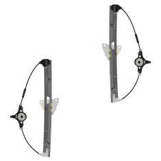 11-13 Mazda 2 Rear Door Power Window Regulator w/o Motor PAIR