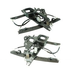 03-06 Ford Expedition, Lincoln Navigator Front Door Power Window Regulator w/Motor Pair
