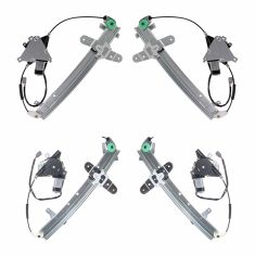 92-11 Crown Vic; 92-10 Grd Marquis; 03-04 Marauder Power Window Regulator with Motor (Set of 4)