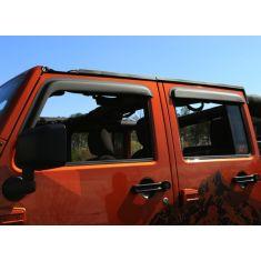 Window Visors, Matte Black, 07-14 Jeep 4-Door Wrangler