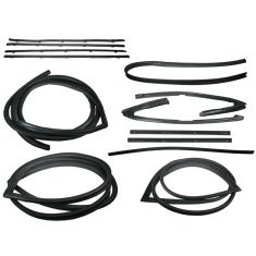 1971-72 GM Pickup Complete Weatherstrip Kit for Trucks with Black Seal Trim