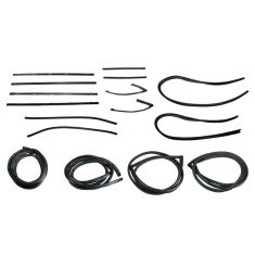 1971-72 GM Pickup Complete Weatherstrip Kit for Trucks with Chrome Seal Trim
