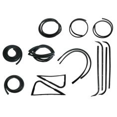 1967-70 Ford F-Series Pickup Complete Weatherstrip Kit for Trucks WITHOUT Chrome Window Trim