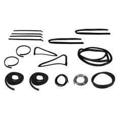 1980-86 Dodge Pickup Complete Weatherstrip Kit for Trucks with either Black or Chrome Windshield Trim