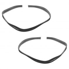 1964-66 GM PU Door Upper Glass Run Weatherstrip PAIR