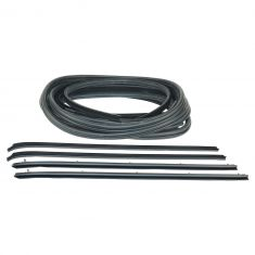 80-93 Dodge A/W150, 250, 350, Ramcharger; 80-81 Trailduster Front Door Weatherstrip Kit (10 Piece)