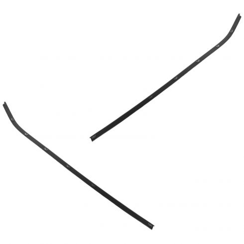 69-82 Chevy Corvette Coupe Door Outer Window Sweep PAIR