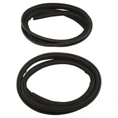 99-16 Ford F250SD-F550SD; 16-17 F650, F750 Crew Cab Body Mounted Rear Door Weatherstrip Seal PAIR