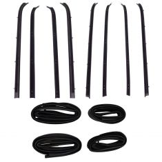 81-91 Suburban, C/K; 87-91 R/V Crew Cab Front & Rear Door Weatherstrip & Belt Seal Kit (Set of 12)