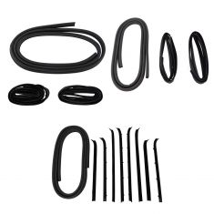 81-91 Suburban, C/K; 87-91 R/V Crew Cab Complete Frt & Rear Door Wthrstrip & Belt Seal Kit (Set 16)