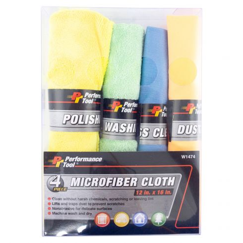 4pc Microfiber cloth set