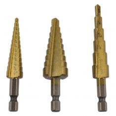 3 pc. Step Drill Set