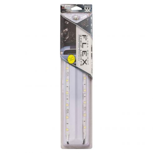 20 Inch Ultra Bright White LED Flex Lights 2pk