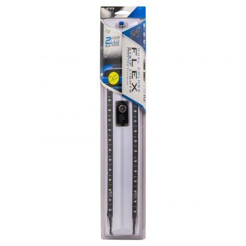 24 Inch Blue/White LED Flex Lights 2pk