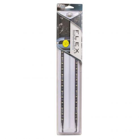 24 Inch White LED Flex Lights 2pk