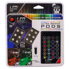 LED 6 Led Multi Color Ultra Bright Light Pods With Remote