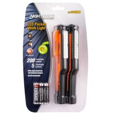 NightStick LED Pocket (150 Lumens) Blk/Orange Work Light (Flood & Spotlight) (6 AAA Bat Inc) PAIR