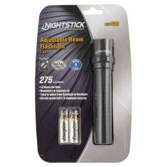 NightStick Adjustable LED Beam w/TIR Lens (275 Lumens) Black Flashlight (Includes 2 AA Batteries)