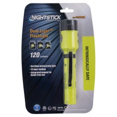 NightStick X-Series Dual Light (Flash (120 Lmns), Flood (120 Lmns)) Yellow Flashlight w/Tail Magnet