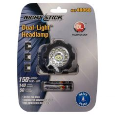 3 Mode LED Headlamp (w/Spotlight (140 Lm), Floodlight (50 Lm), Dual Light (150 Lm)) (Inc 3 AAA Bat)